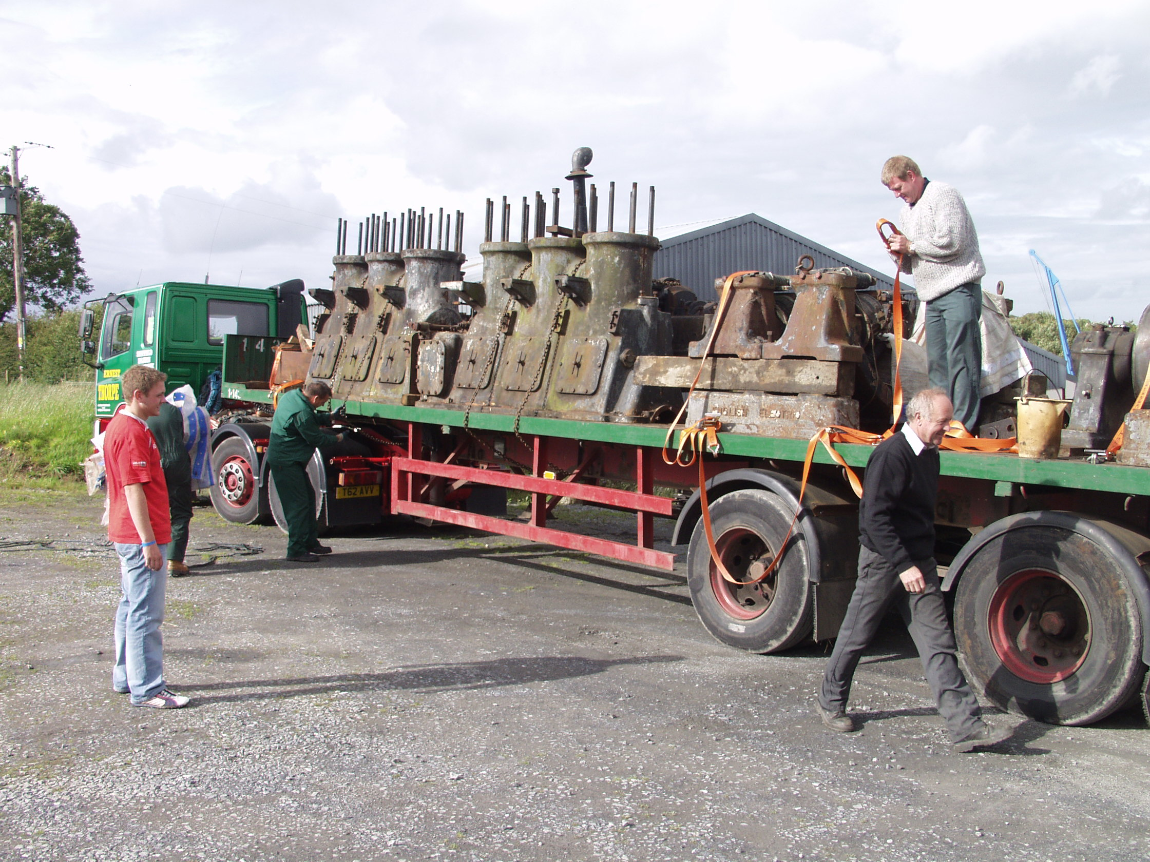 First load arriving at the museum